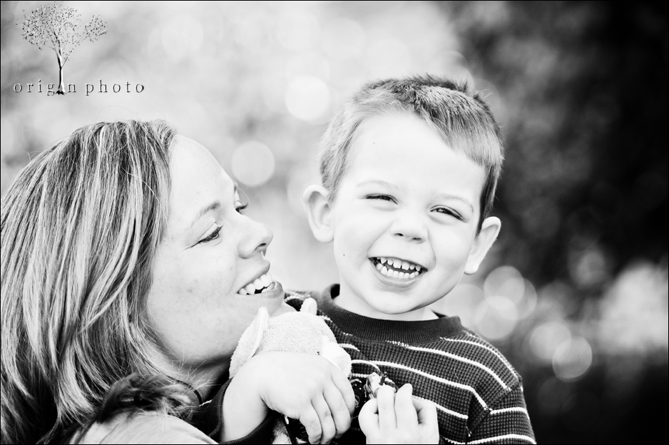 mom and son smiling a lot