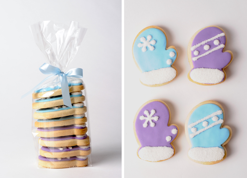 cookies in the shape of mittens